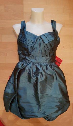 Asos Sukienka z rękawem balonowym petrol Poliester