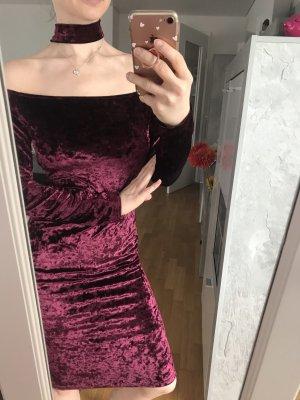 Neu! Kleid aus samt von shein Größe m