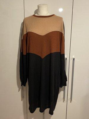 NEU Kleid Gr.48 Gr.XXL braun schwarz Langarmkleid