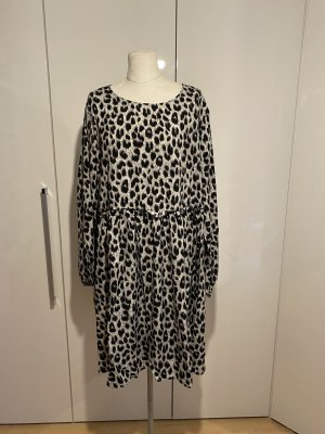 NEU Kleid Gr.50 Gr.3XL schwarz beige Leokleid