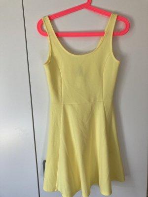 H&M Sukienka dresowa żółty