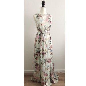 NEU Kleid Sommerkleid Hochzeit Hochzeitsgast maxikleid floral Blumen Blumenmuster Größe S 36 38