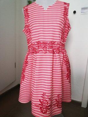 Folkloristische rok wit-rood