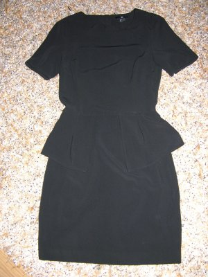 H&M Peplum Dress black