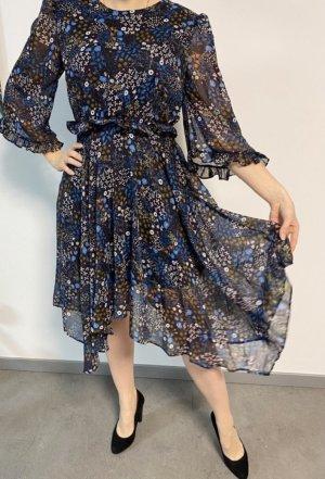Vila Chiffon jurk donkerblauw
