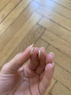 Złote kolczyki złoto-biały