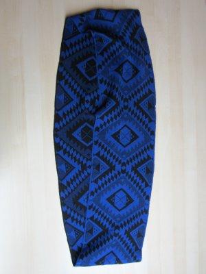 MiaModa Caperuza azul-negro Acrílico