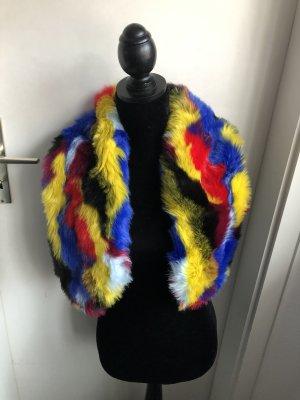 Neu! Kunst Fell Schal Kragen Kunstpelz Accessoire Jacke