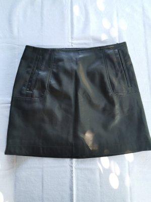 H&M Jupe en cuir synthétique noir tissu mixte