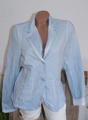 Neu ● L 38 40 ● ITALY ● Sweat Blazer Jacke Vintage Blue Washed ● ☆ ☀ ♥ DIE BESTEN SCHNÄPPCHEN - JETZT MEGA REDUZIERT ☆ ☀ ♥
