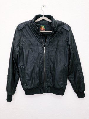 La Martina Leather Jacket black