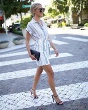 NEU La Petite Button Down Wrap Dress - Small