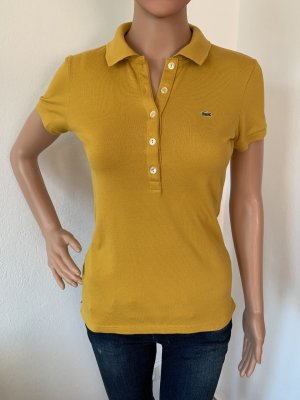 Neu Lacoste Sommer Polo T-Shirt Tank Top Shirt Bluse S 36 Baumwolle Elastisch Slim Fit figurbetont
