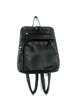LandLeder Trekking Backpack black leather