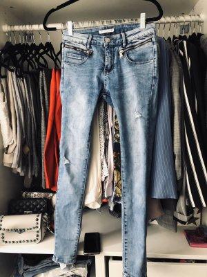 NEU ! Laulia stretchy Skinny-Jeans mit Zippern