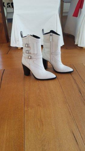 Bronx Low boot blanc cassé cuir