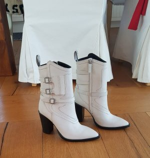 "NEU_Leder High Heel Stiefelette BRONX ""New Americana"" Gr.37 offwhite"