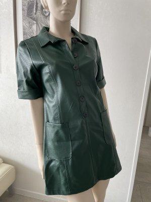 0039 Italy Robe en simili vert foncé