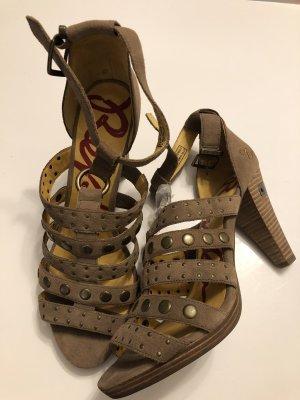 Neu Leder Replay High heels NP 150€ Riemchen Nieten Sandalen Gr. 41