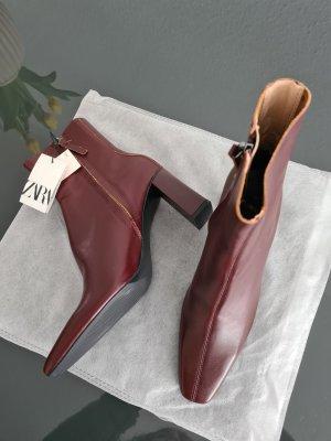 Neu! Leder Stiefelette von Zara 38