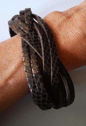 Bracelet en cuir brun foncé cuir