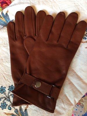 Navyboot Leren handschoenen bruin-cognac