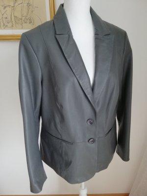 Alba Moda Veste en cuir gris foncé