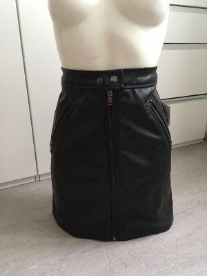 C&A Skórzana spódnica czarny