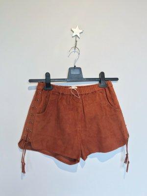 Maje Hot pants multicolore Pelle