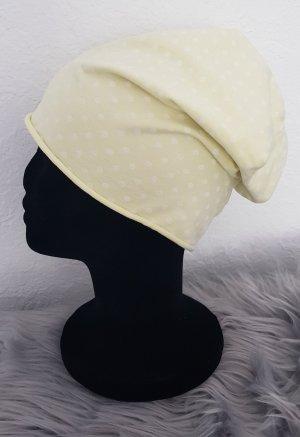Czapka z tkaniny jasnożółty