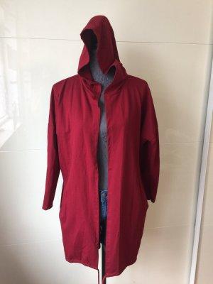 seventyseven Cappotto con cappuccio bordeaux-rosso scuro