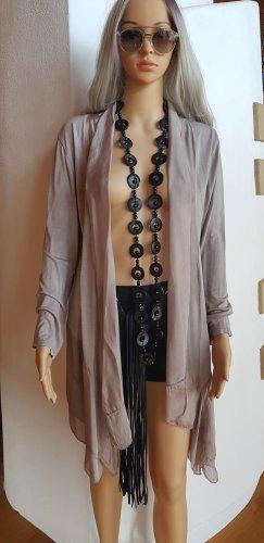 Italy Gilet long tricoté rose chair-beige clair