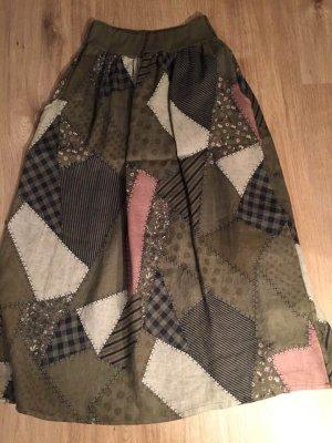 Falda de lino multicolor Lino