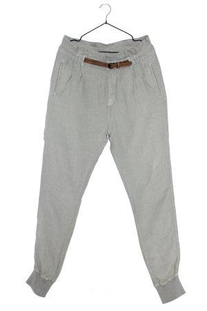 Herrlicher Pantalon en lin gris vert
