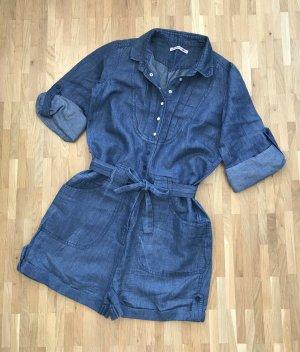 NEU Levi's Denim Leinen Jumpsuit XS 34 Jeans Overall Hose Shorts Playsuit Pants