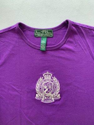 *NEU* lila T-Shirt mit Aufdruck von Ralph Lauren