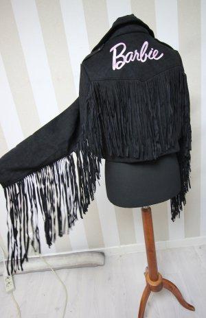 Missguided Biker Jacket black-pink