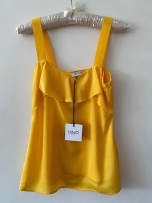 Liu jo Blouse sans manche jaune polyester
