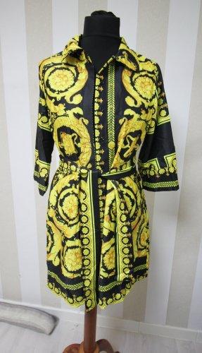 Danity Long Blouse black-yellow