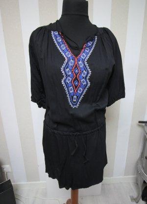 Camisa tipo túnica negro-azul