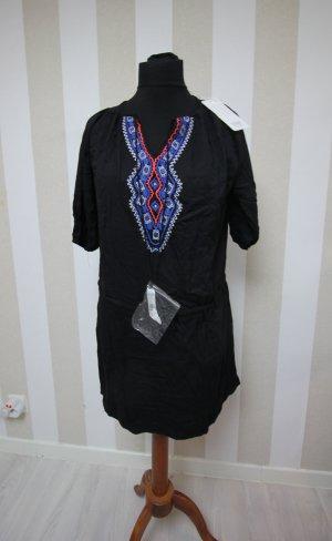 Camicia a tunica nero-blu