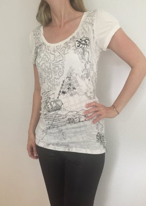 + NEU ++ Longtop KAFFE ++ only Top wie Replay rock Patch Nieten T-Shirt ++