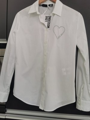 *Neu* Love Moschino Bluse weiß Gr. M NP 185€