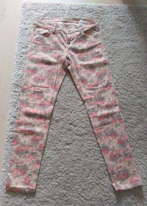 Neu LTB Jeans Hose mit Blumen in rosé Modell Melina