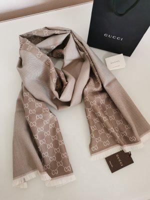 Gucci Écharpe en laine beige