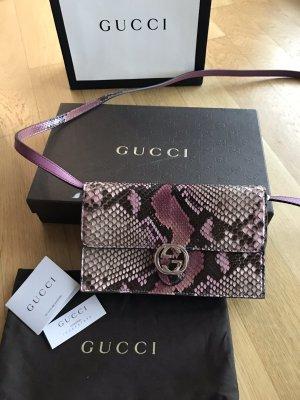 NEU Luxus Designer Gucci gg Iconic Interlocking Python Schlange Tasche WOC Bag Clutch
