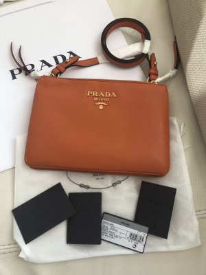 Prada Crossbody bag orange-gold-colored leather