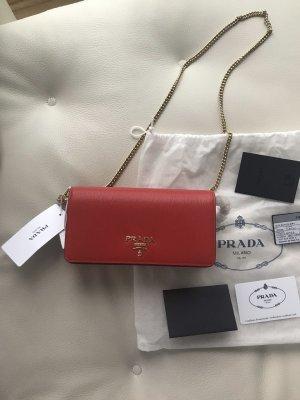 NEU Luxus Designer Prada Milano Leder Pochette Clutch Crossbody Umhänge Tasche Bag