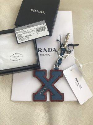 NEU Luxus Designer Prada Milano Saffiano Schlüsselanhänger Keyring Tasche Charm