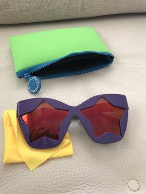Stella McCartney Okulary retro ciemny fiolet-niebiesko-fioletowy